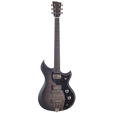 Guitarra eléctrica Dunable Cyclops Flame Top Charcoal Burst