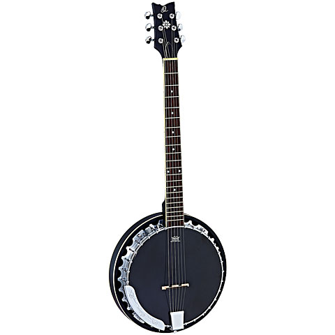 Bluegrass Banjo Ortega OBJE350/6-SBK