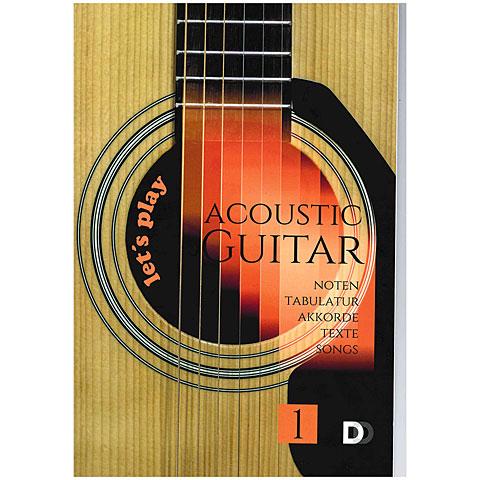 Cancionero DD Verlag Let's play Acoustic Guitar 1