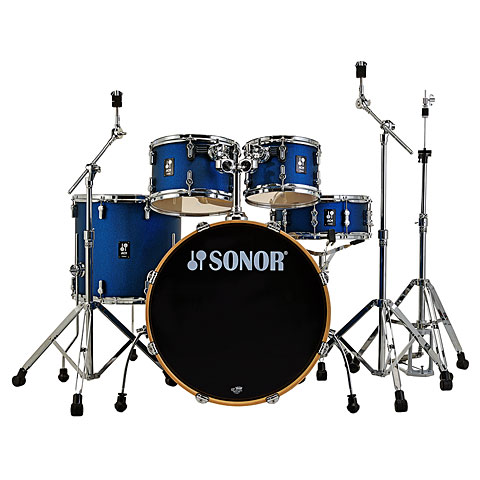 "Drum Kit Sonor AQ1 20"" Dark Blue Sparkle Studio Drumset"
