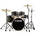 """Schlagzeug Sonor AQ1 22"""" Woodgrain Black Stage Drumset"""
