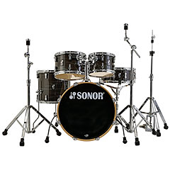"Sonor AQ1 22"" Woodgrain Black Stage Drumset"
