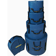 Hardcase Colored Fully Lined 10/12/14/20/14 Dark Blue Drum Case Set « Drum Cases