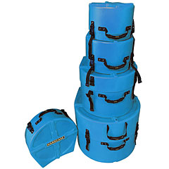 Hardcase Colored Fully Lined 10/12/14/20/14 Light Blue Drum Case Set « Drum Cases