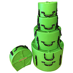 Hardcase Colored Fully Lined 10/12/14/20/14 Light Green Drum Case Set « Drum Cases