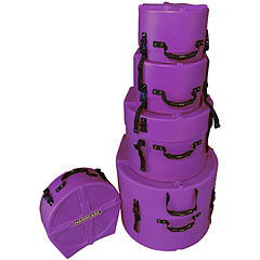 Hardcase Colored Fully Lined 10/12/14/20/14 Purple Drum Case Set « Drum Cases