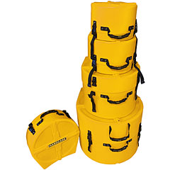 Hardcase Colored Fully Lined 10/12/14/20/14 Yellow Drum Case Set « Drum Cases