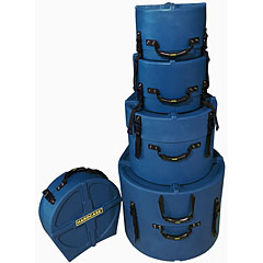 Hardcase Colored Fully Lined 22/10/12/16/14 Dark Blue Drum Case Set « Drum Cases