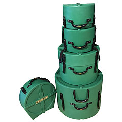 Hardcase Colored Fully Lined 22/10/12/16/14 Dark Green Drum Case Set « Drum Cases