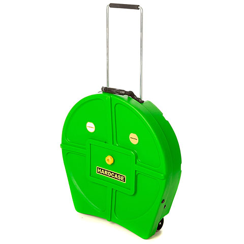 """Cymbalcase Hardcase Colored Padded 22"""" Light Green Cymbal Trolley"""