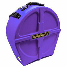 "Hardcase Colored Fully Lined 14"" Purple Snare Case « Drum Cases"