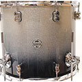 "Floortom pdp Concept Maple 16"" x 14"" Silver to Black Sparkle Fade Floor Tom"