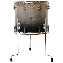 "pdp Concept Maple 16"" x 14"" Silver to Black Sparkle Fade Floor Tom « Tom basse"