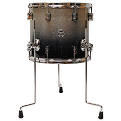 "pdp Concept Maple 14"" x 12"" Silver to Black Sparkle Fade Floor Tom « Tom basse"