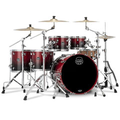 "Mapex Saturn 22"" Scarlet Fade Studioease Shell Pack « Batería"