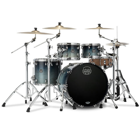 """Batería Mapex Saturn 22"""" Teal Blue Fade 4 Pcs. Fast Sizes Shell Pack"""