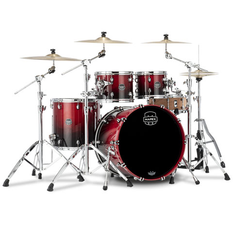 """Batería Mapex Saturn 22"""" Scarlet Fade 4 Pcs. Fast Sizes Shell Pack"""