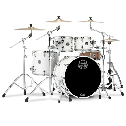 """Batería Mapex Saturn 22"""" Satin White 4 Pcs. Fast Sizes Shell Pack"""