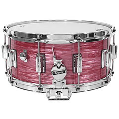 "Rogers Dyna-Sonic 14"" x 6,5"" Model 37 Beavertail Wine Red Ripple Snare « Snare drum"