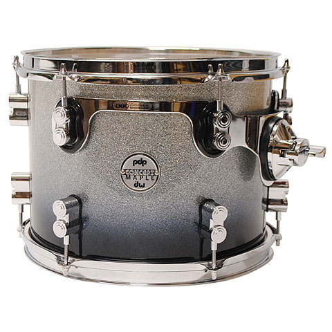 "Tom Tom pdp Concept Maple 12"" x 9"" Silver to Black Sparkle Fade Tom Tom"
