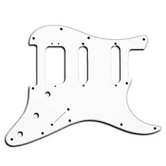 Fender Pickguard Strat White HSS « Pickguard