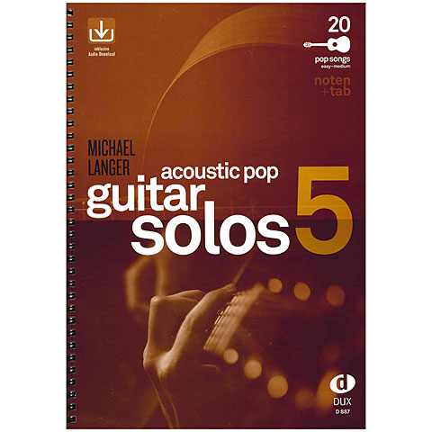 Libro de partituras Dux Acoustic Pop Guitar Solos 5