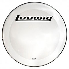 "Ludwig Bass Drum Resonant Head 22"" Block Logo « Parches para bombos"