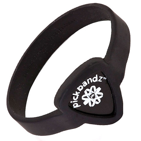 Plektrumhalter Pickbandz Wristband Guitar Pick Holder Epic Black Youth