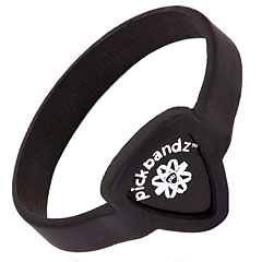 Pickbandz Wristband Guitar Pick Holder Epic Black Adult