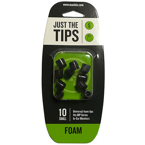 oordopjes in shape Mackie MP & CR foam tips kit S