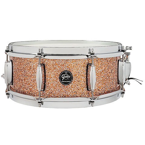 "Caisse claire Gretsch Drums Renown Maple 14"" x 5,5"" Copper Premium Sparkle"
