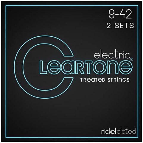 Cuerdas guitarra eléctr. Cleartone Electric Super Light 9-42 2-Pack