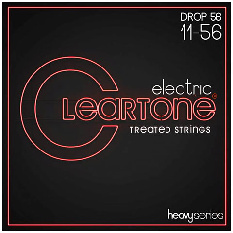 Cuerdas guitarra eléctr. Cleartone Monster Series Electric Drop D 11-56
