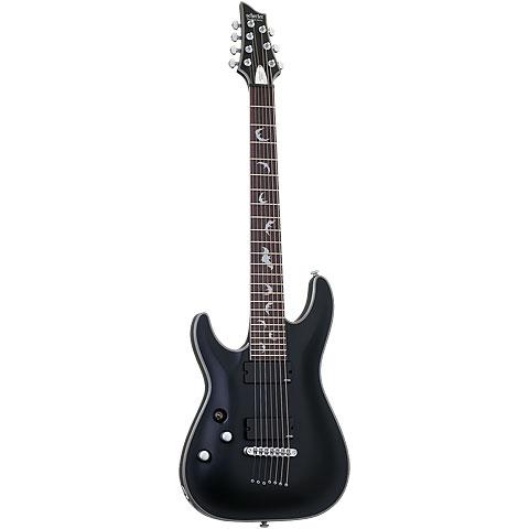 Schecter Damien Platinum 7 Satin Black « E-Gitarre Lefthand