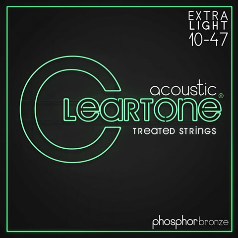 Cuerdas guitarra acúst. Cleartone Acoustic Phos-Bronze Extra Light 10-47