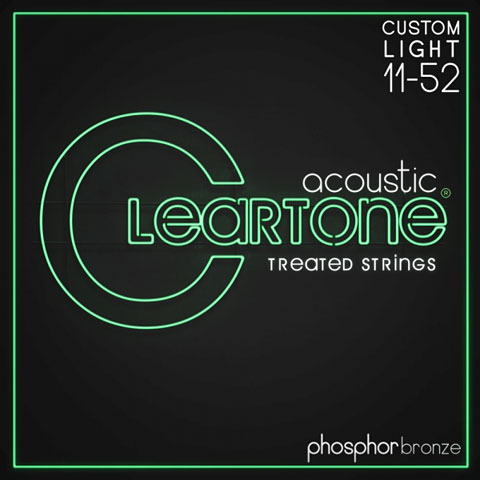 Saiten Westerngitarre Cleartone Acoustic Phos-Bronze Custom Light 11-52