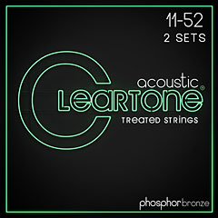 Cleartone Acoustic Phos-Bronze Custom Light 11-52 2-Pack « Western & Resonator Guitar Strings