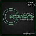 Corde guitare folk Cleartone Acoustic Phos-Bronze Light 12-53