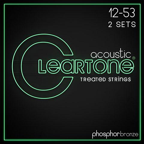 Saiten Westerngitarre Cleartone Acoustic Phos-Bronze Light 12-53 2-Pack