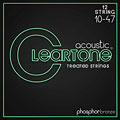 Cuerdas guitarra acúst. Cleartone Acoustic Phos-Bronze 12-String Light 10-47