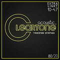 Saiten Westerngitarre Cleartone Acoustic 80/20 Bronze Custom Light 11-52