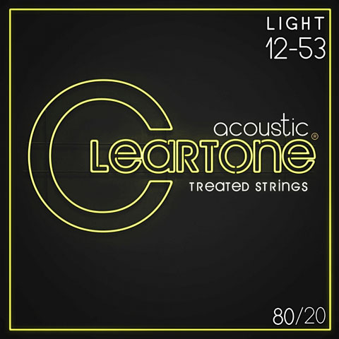 Corde guitare folk Cleartone Acoustic 80/20 Bronze Light 12-53