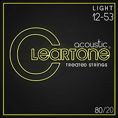 Cleartone Acoustic 80/20 Bronze Light 12-53 « Western & Resonator Guitar Strings