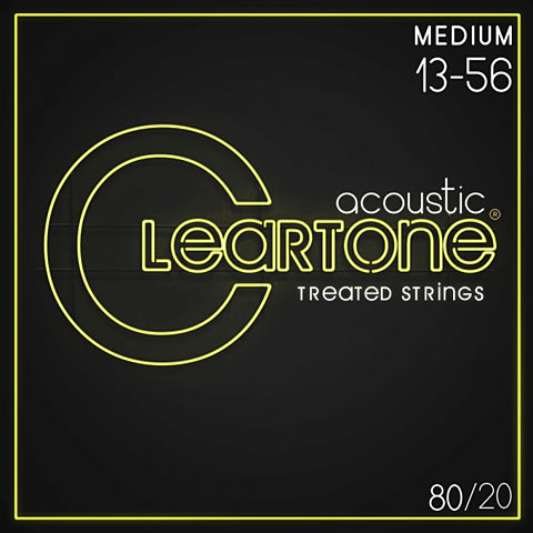 Cuerdas guitarra acúst. Cleartone Acoustic 80/20 Bronze Medium 13-56