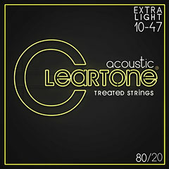 Cleartone Acoustic 80/20 Bronze Extra Light 10-47 « Western & Resonator Guitar Strings