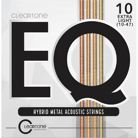 Saiten Westerngitarre Cleartone EQ Hybrid Metal Acoustic Strings 10-47