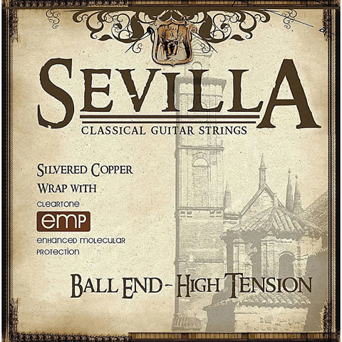 Cuerdas guit. clásica Cleartone Sevilla Treated Classical High Tension / Ball End