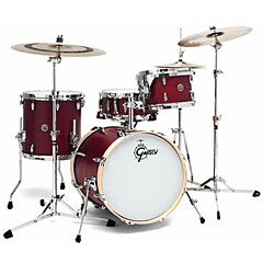 "Gretsch Drums USA Brooklyn 18"" Satin Cherry Red Shell Set « Batterie acoustique"