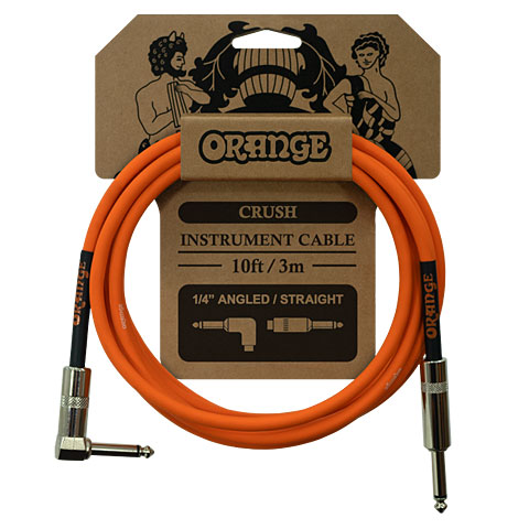 Instrumentenkabel Orange Instrument Cable Angled 3m