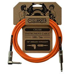 Orange Instrument Cable Angled 3m